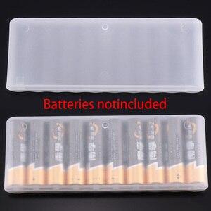 1 шт. Белый 10 сетка Батарея держатель, чехол, органайзер контейнер АА батареи коробка для хранения держатель Жесткий Чехол Крышка Батарея де...