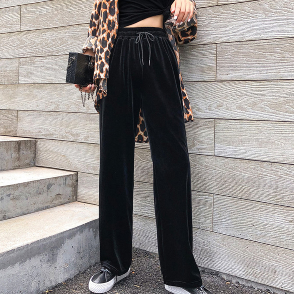 Fashion Womens   Wide     Leg     Pants   Culottes Loose High Waist   Wide   Solid   Leg   Long Trousers Solid Summer Autumn