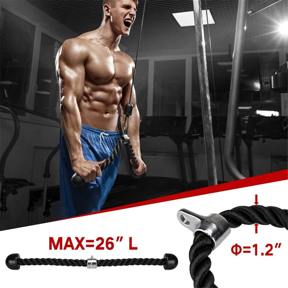 Fitness Gym Arm Biceps Trainer Pulley Triceps Workout Weight Lifting Attachments