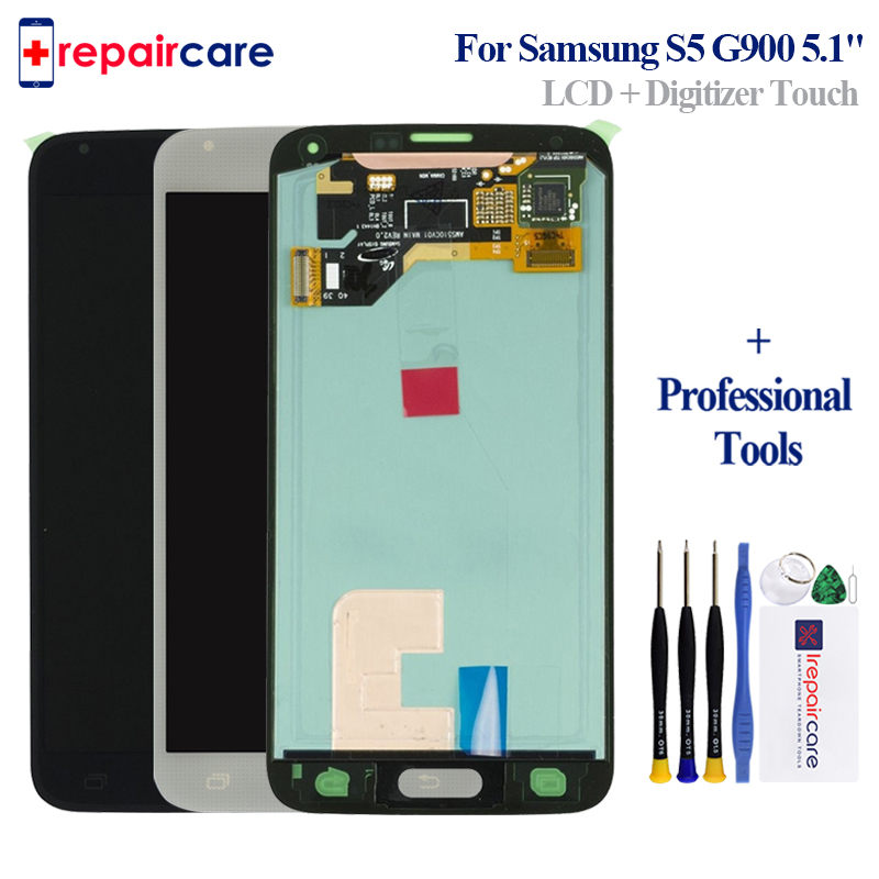 5,1 ''OEM AMOLED <font><b>LCD</b></font> Für <font><b>SAMSUNG</b></font> <font><b>S5</b></font> <font><b>LCD</b></font> Touch <font><b>Screen</b></font> Für <font><b>SAMSUNG</b></font> <font><b>Galaxy</b></font> <font><b>S5</b></font> <font><b>LCD</b></font> Display Bildschirm <font><b>S5</b></font> i9600 <font><b>g900</b></font> <font><b>LCD</b></font> + Fingerprint image