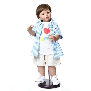 Reborn Toddler Doll 70cm Lifelike full vinyl Baby Reborn Bonecas Whole Silicone Inteiro Bebe Reborn Menino Brinquedos Gifts