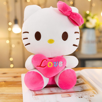 Peluche hello kitty amour rose bonbon