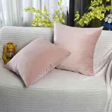 Cushion Cover Soft Velvet Cushion Covers Home Decor for Sofa Seat Chair Car Pillowcase Pink Beige Pillow Covers