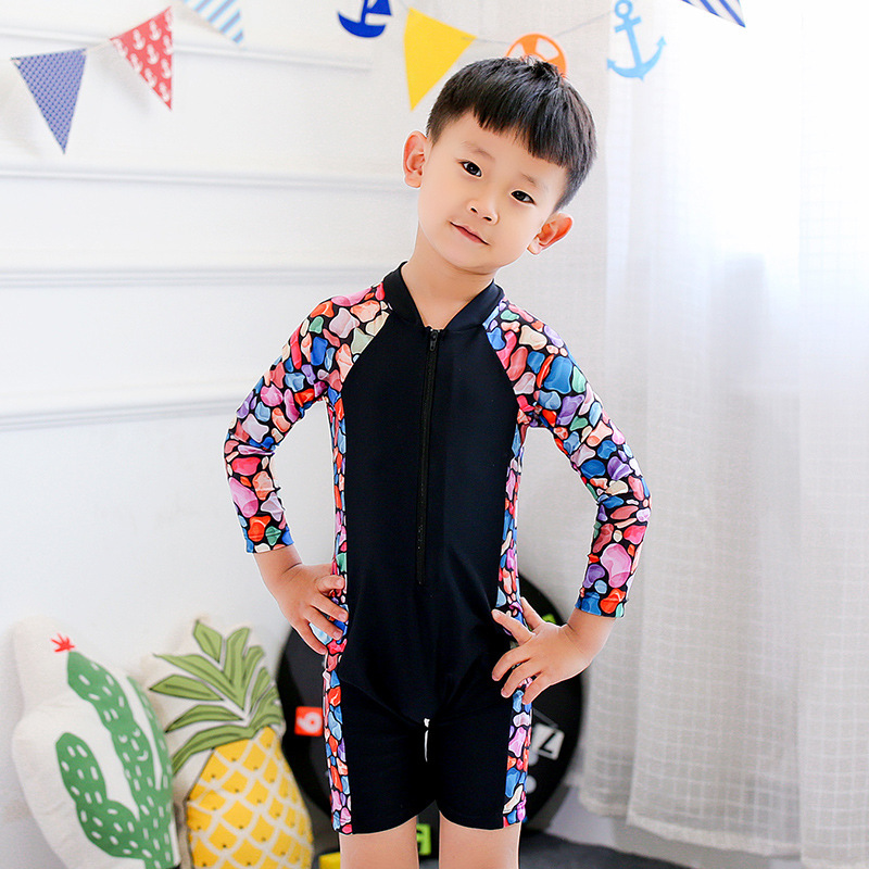 New Style KID'S Swimwear One-piece Boxer Cute Men And Women Children Large Children Baby Sun-resistant Tour Bathing Suit Swimmin