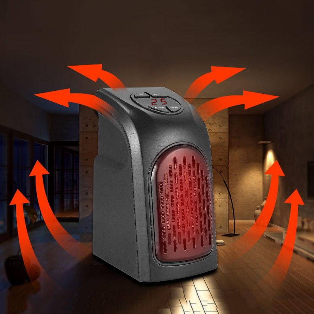 EU Electric Heater Mini Fan Heater Desktop Household Wall Handy Heater Stove Radiator Warmer Machine For Winter 200-240V