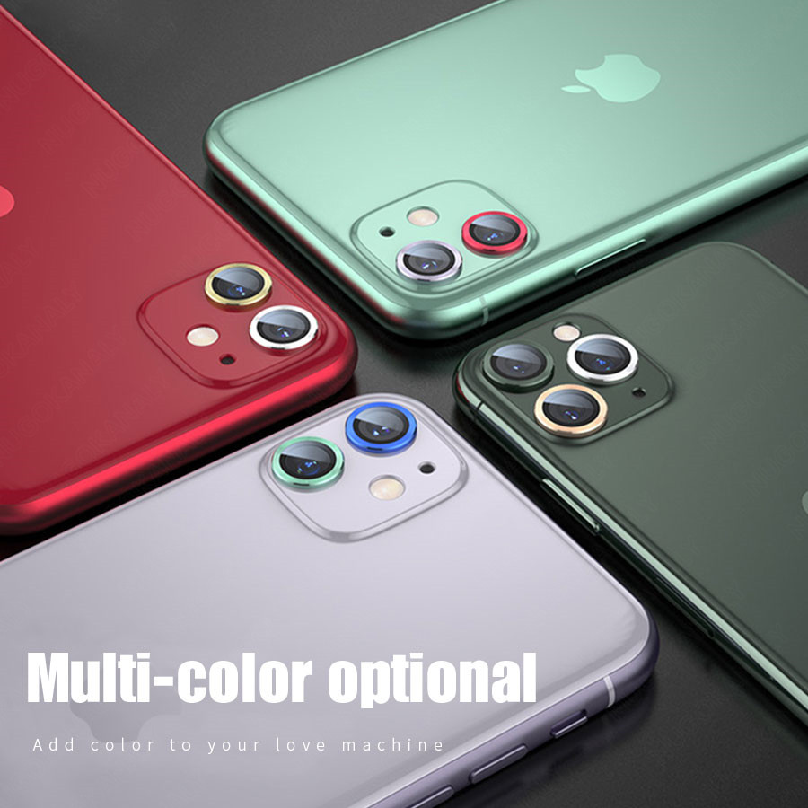 Camera Lens Screen Protector Glass For iPhone 11 Pro Max Case Rear Camera Ring Back Cover Protection 4