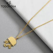 Todorova Cute Ocean Animal Jellyfish Necklace Pendant Chain Choker Stainless Steel Jewelry for Women Girls Loving Gift(China)