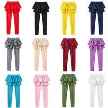 Girls Skirt Pants Children Trousers Leggings Autumn Cotton Cute 2-8yrs