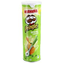 Чипсы Pringles со вкусом зеленого лука, 165 г