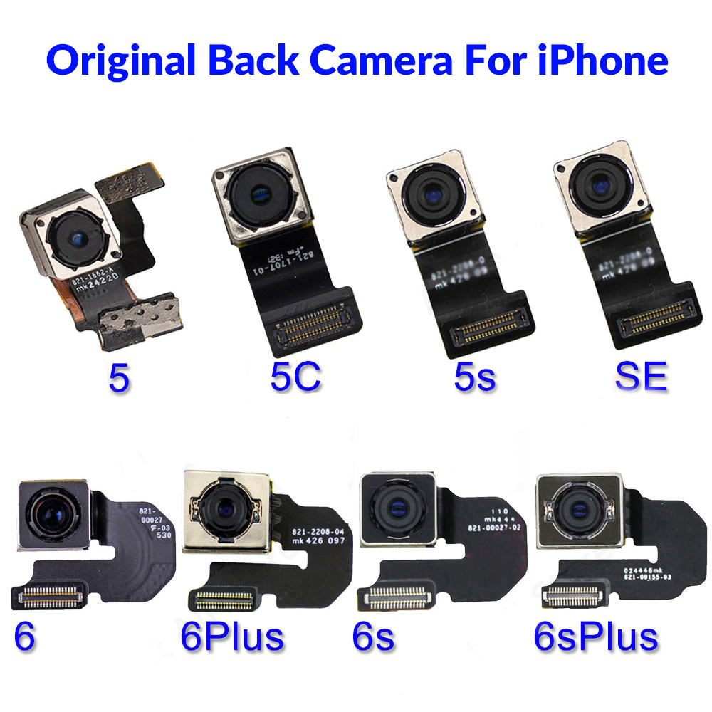 Original Rear Main Back Big Camera For IPhone 5 SE 5s 5c 6 6 Plus 6S 6S Plus 7 7 Plus 8 8 Plus X XR XS Max Flex Cable