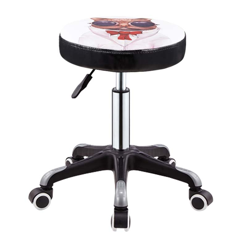 Beauty Stool Barber Shop Chair Hairdressing Stool Rotating Lifting Round Stool Nail Salon Stool Pulley Hair Salon Work Bench