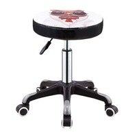 Taburete de belleza  silla de barbería  taburete de peluquería  taburete redondo de levantamiento giratorio  taburete de salón de manicura  banco de trabajo de polea para peluquería