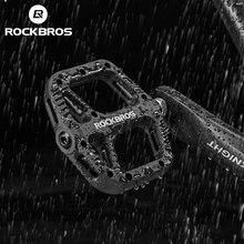 ROCKBROS pedales planos para bicicleta de montaña, BMX, nailon, multicolor, accesorios ultraligeros para deportes de ciclismo de montaña, 355g
