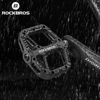 ROCKBROS rower pedał droga BMX Mountain Bike płaskie pedały Nylon multi-kolory MTB kolarstwo sport Ultralight akcesoria 355g tanie i dobre opinie Ultralight pedału about 13 5*12*2cm Rowery górskie Rowery drogowe 2018-12 Z tworzywa sztucznego Łożyska Black red orange