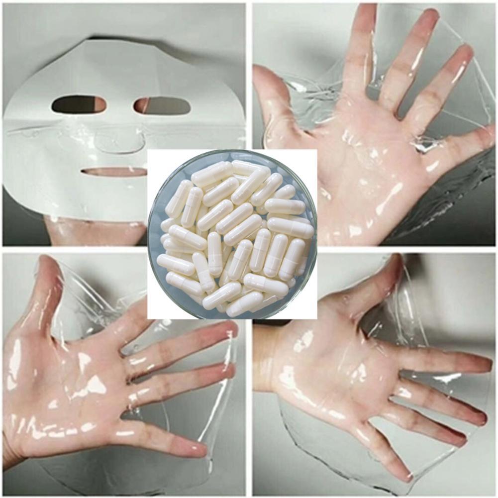 50pcs Collagen Powder Capsules Protein Bioactive Peptides Crystal Face Mask Rejuvenation Shrink Pore Whitening Cream Skin Care 3