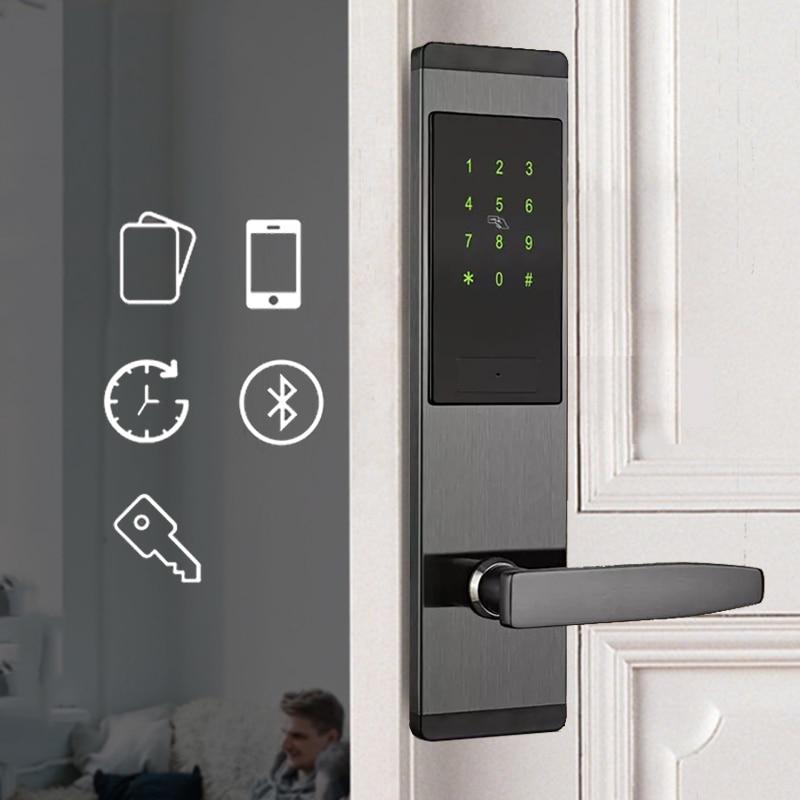 Código de Bloqueio Da Porta inteligente, Keyless do Fechamento Da Segurança Em Casa, Wifi Senha de Bloqueio Do Cartão RFID App Sem Fio de Controle Remoto Do Telefone