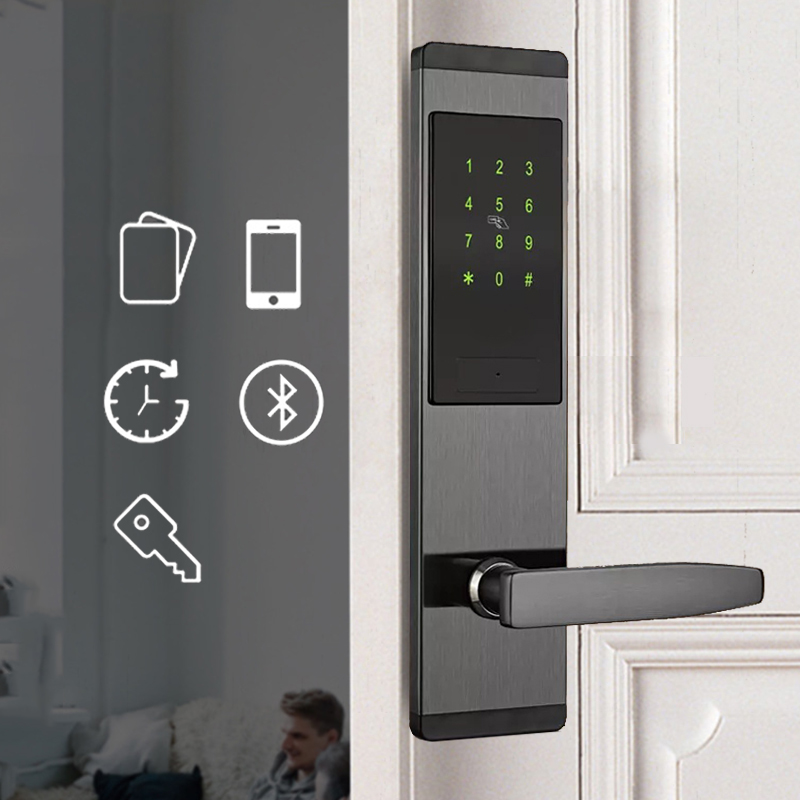 Smart Door Code Lock,Security Home Keyless Lock, Wifi Password RFID Card Lock Wireless App Phone Remote Control Brazil FreeTax