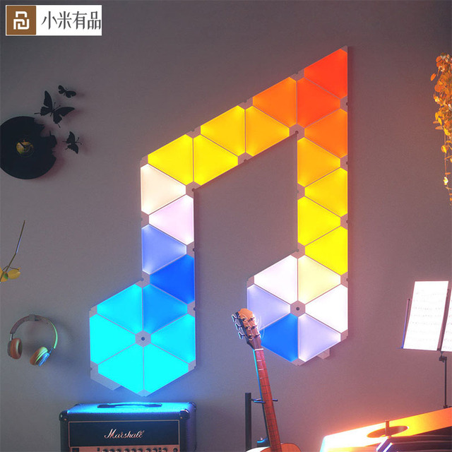 Original Youpin Nanoleaf Full Color Smart Odd Light Board Work with for Apple Homekit Google Home Custom Setting 4pcs/1box