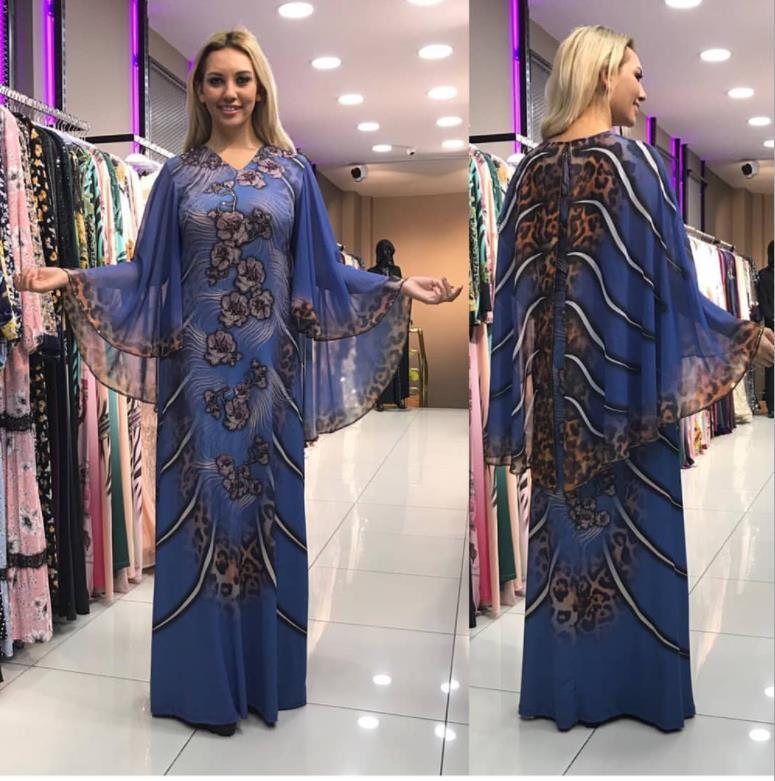 2019African Dresses For Women Dashiki Print African Clothes Bazin Riche Leopard Slim Africa Dress Robe Africaine Vetement Femme