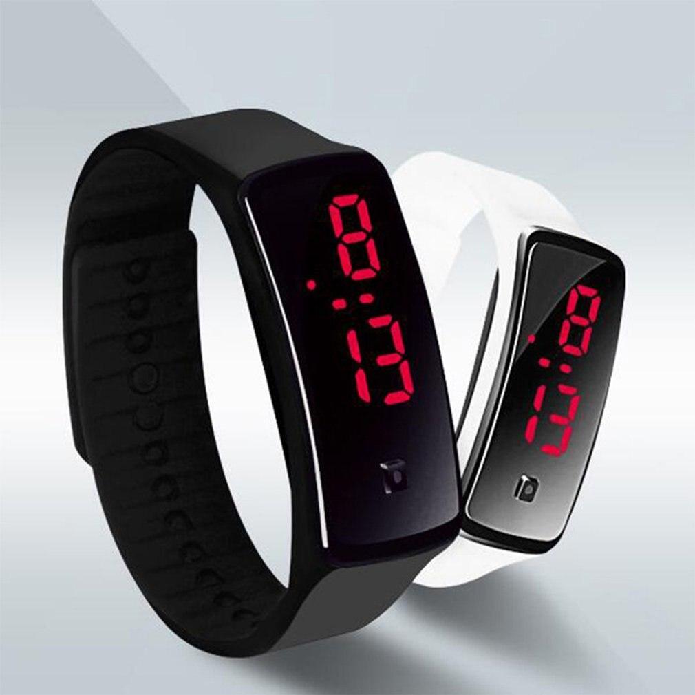 Fashion Silicone Band Children LED Digital Wrist Watch Lightweight Sports Bracelet Clock Unisex Men Women Wristband