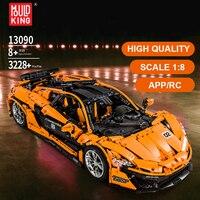 Mould King 13090 Super Racing RC Car Model Mclaren Compatible 20087 Technic Voiture Moc 16915 Building Blocks Bricks Toys Gifts