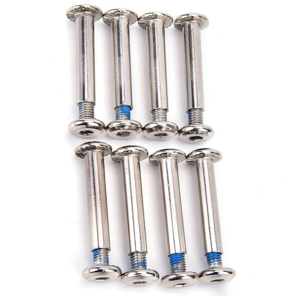 8Pcs/set Inline Roller Axles Blades Screws Skate Wheel Bolts For Skate ShoeRCUS Skate Wheel Bolt Set Shoes Accessories