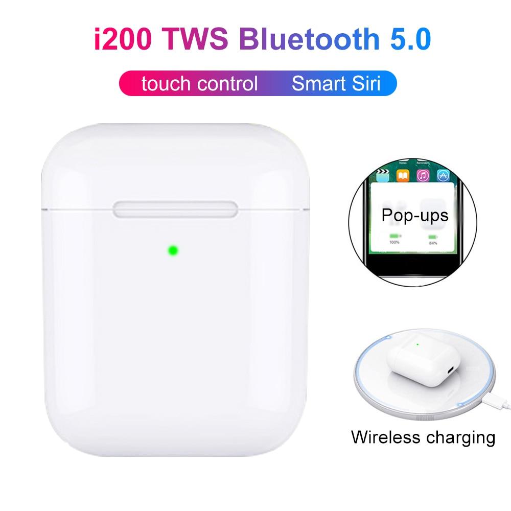 Nova i200 tws 1:1 pop up fones de ouvido bluetooth sem fio preto carregamento sem fio pk i500 tws telefone