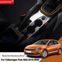Car Styling Car Interior Gear Box Decorative Frames Sequins Cover Auto Sticker Car Accessories For Volkswagen Polo MK6 2018 2020