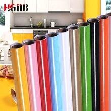 Блестящая водостойкая самоклеящаяся виниловая настенная бумага, наклейка в рулоне для кухни, настенная бумага, мебель для рабочего стола, декоративная