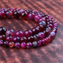 Fashion jewelry 4/6/8/10/12mm Rose Dragon Agate, suitable for making jewelry DIY bracelet necklace