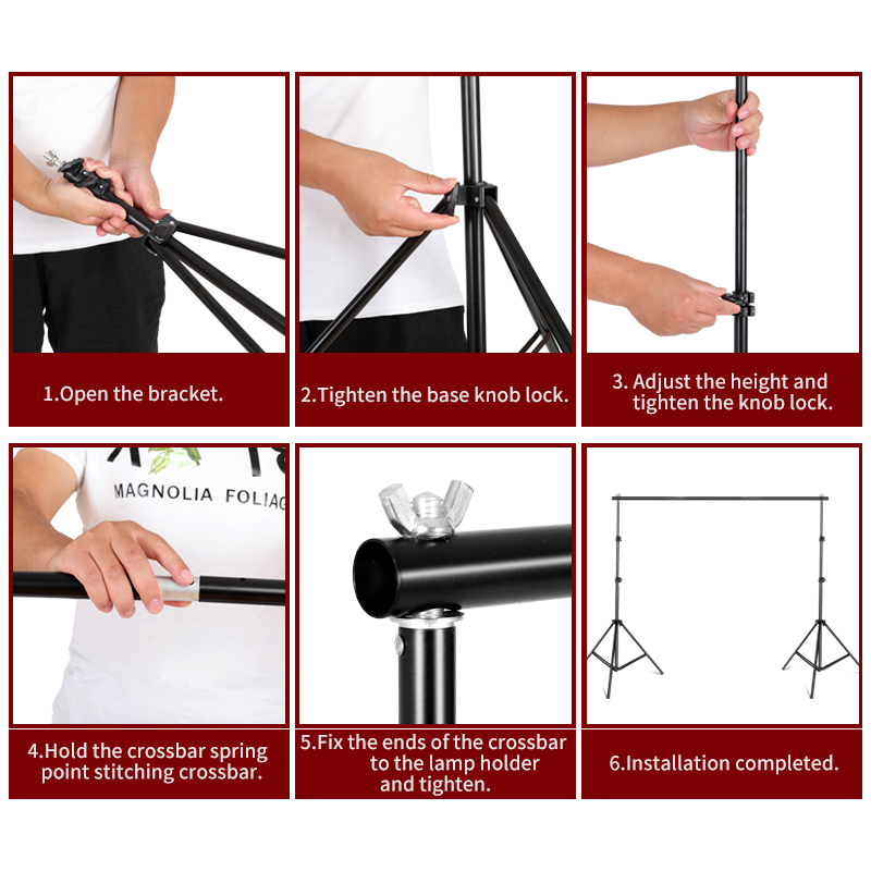 Image 5 - Photography Background Stand Support System Kit for Photo Studio 