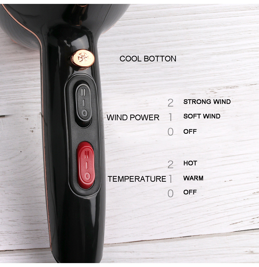 2000w secador de cabelo ar quente e