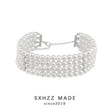 SXHZZ Classical Pearl Necklace For Women Female Girl Top Quality Multiple Layer for Bride Bridesmaid at Wedding
