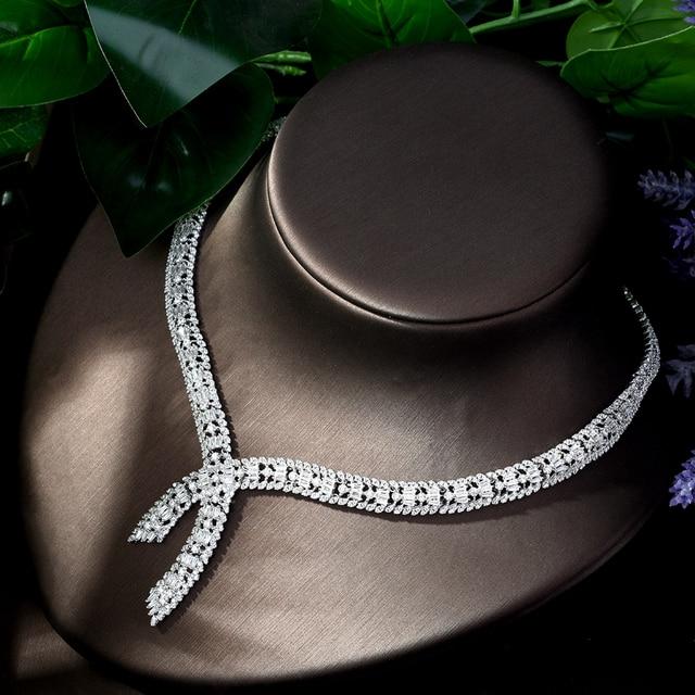 Jewelry Sets bfx0021 HIBRIDE Shiny Big Leaf Drop African Dubai CZ Necklace Earrings Wedding Bridal Dress Jewelry Sets Accessories
