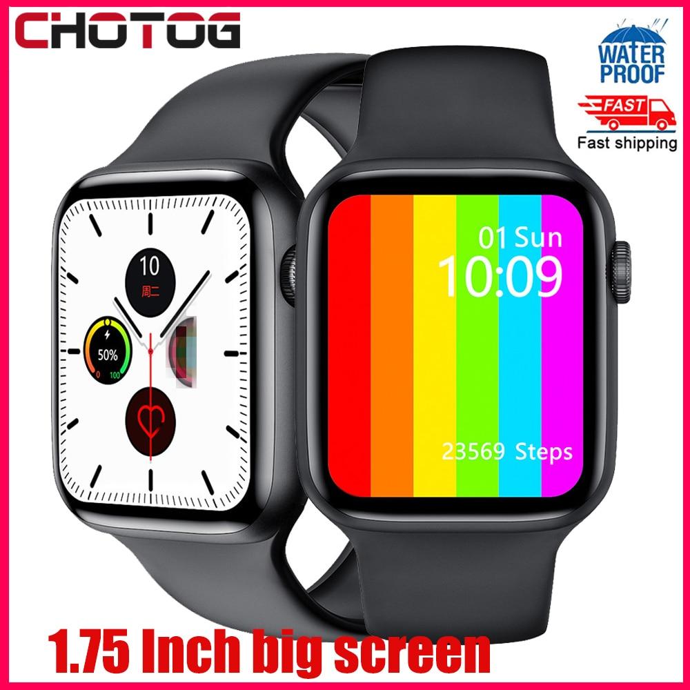 1,75 дюймов экран Смарт часы для мужчин и женщин температура тела ЭКГ Smartwatch кровяное давление Водонепроницаемый Фитнес трекер часы PK W34 IWO|Смарт-часы|   | АлиЭкспресс