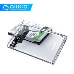 ORICO HDD durumda 2.5 şeffaf SATA USB 3.0 adaptör harici sabit Disk muhafaza 7mm/9.5mm SSD Disk HDD UASP SATA III