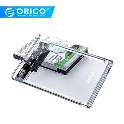 Orico hdd caso 2.5 sata transparente para usb 3.0 adaptador de disco rígido externo gabinete para 7mm/9.5mm ssd disco hdd uasp sata iii