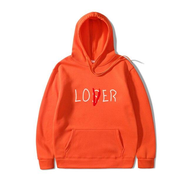 Lover Loser Printed Hoodie Vintage Vogue Ullzang Mens Hodies Autumn Winter Hoodies Sweatshirt Fleece Street Hoodys for Women Men