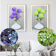 Meian 5d Special Shaped Diamond Embroidery Flower Vase  Diamond Painting Cross Stitch beaded picture Diamond Mosaic Decoration