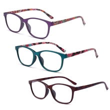 Reading Glasses Diopter Women New Flower for Old-People