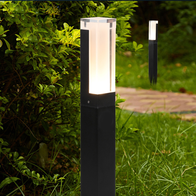 10W LED Garden Lawn Lamp Simple Modern Aluminum Outdoor Waterproof Aisle Courtyard Villa Landscape Pillar Lawn Lamp AC85-265V