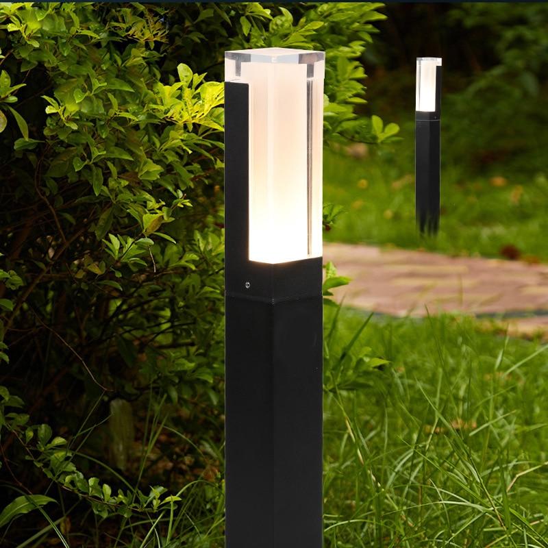 10W LED Garden Lawn Lamp Simple Modern Aluminum Outdoor Waterproof Aisle Courtyard Villa Landscape Pillar Lawn Lamp AC85-265V