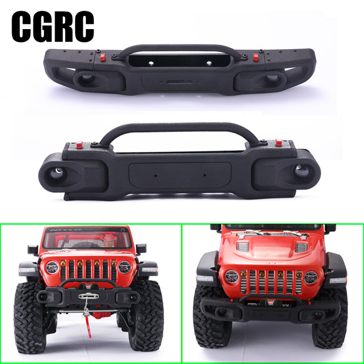 Composite Front Bumper Can Be Dismantled Wide and Narrow for 1/10 RC Crawler Car AXIAL SCX10 III Third Generation JEEP Wrangler