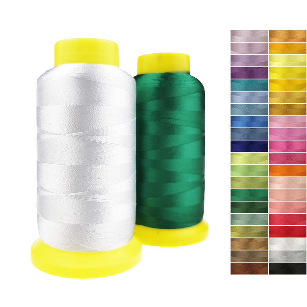 Sanbest 100% Rayon Embroidery Thread For Computer Sewing Machine DIY Hand Work 2200 Meters Low Tenacity Gloss Threads TH00026