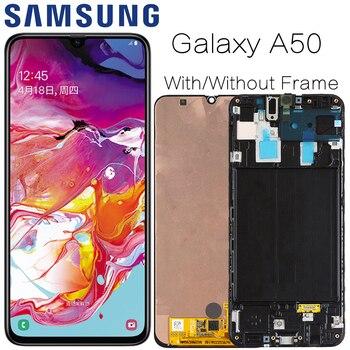 AMOLED для samsung Galaxy A50 SM-A505FN/DS A505F/DS A505 ЖК-дисплей кодирующий преобразователь сенсорного экрана в сборе с рамкой для samsung A50