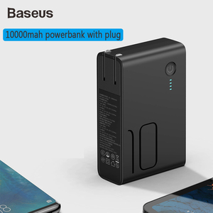 Image 3 - Baseus 10000mah Power Bank With USB Plug Quick Charge Powerbank Type C USB PD3.0 QC Fast Charger Portable Wall Charger For Phone