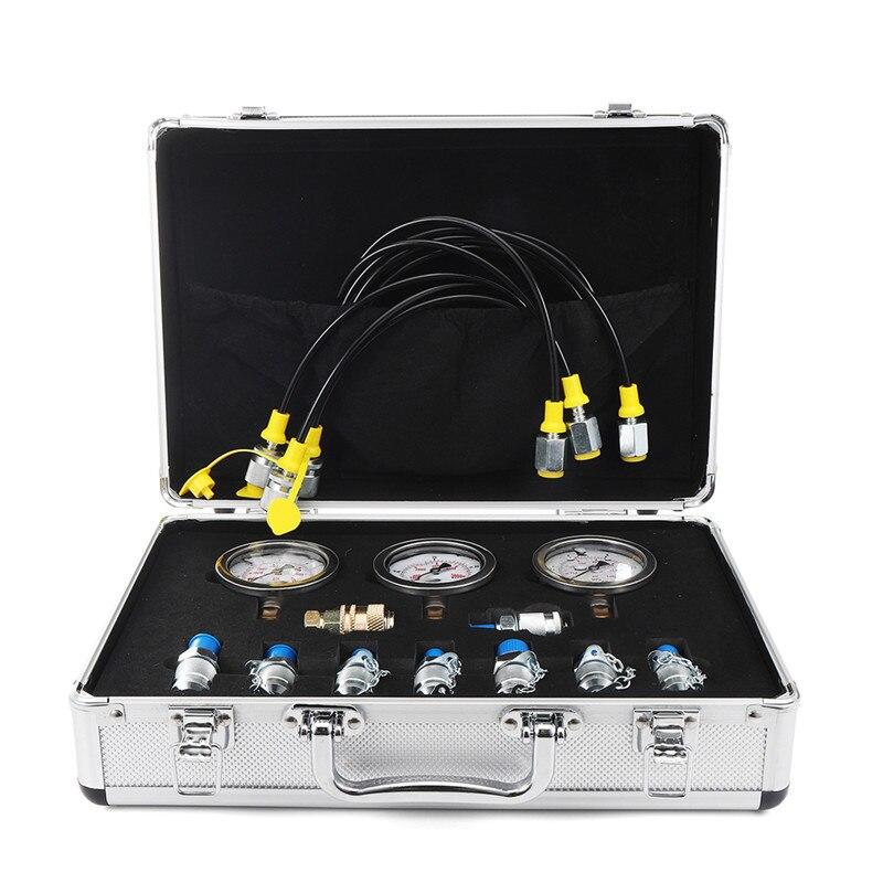 1 компл. Экскаватор гидравлического давления тестовый комплект испытания ing точка муфты датчик Профессионального гидравлического давления