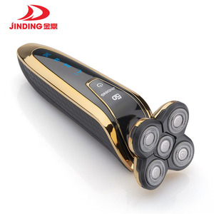 Image 2 - נטענת חשמלי מכונת גילוח כל גוף כביסה 5D צף ראש גילוח מכונת לגברים עמיד למים חשמלי תער 43D