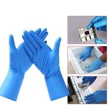 100 шт нитриловые перчатки водонепроницаемые резиновые одноразовые