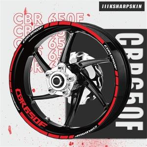 Image 1 - عجلة شريط شعار مجموعة مقاوم للماء دراجة نارية ملصقا شخصية عجلة الزخرفية زين موتو لهوندا CBR650F cbr 650f